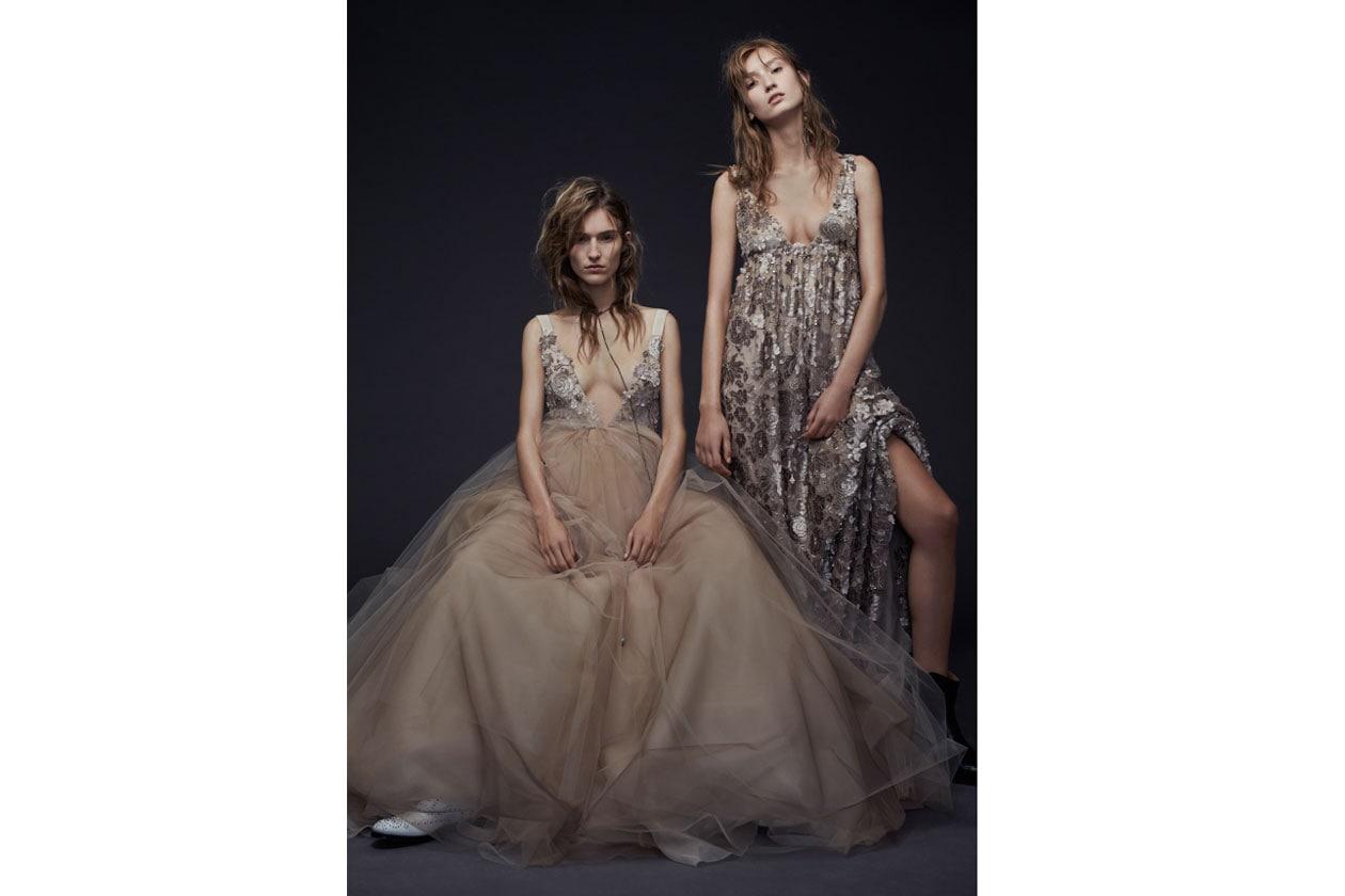 abiti da sposa colorati: vera wang ai 2015