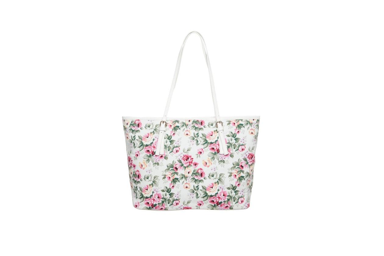 borse a fiori: benetton