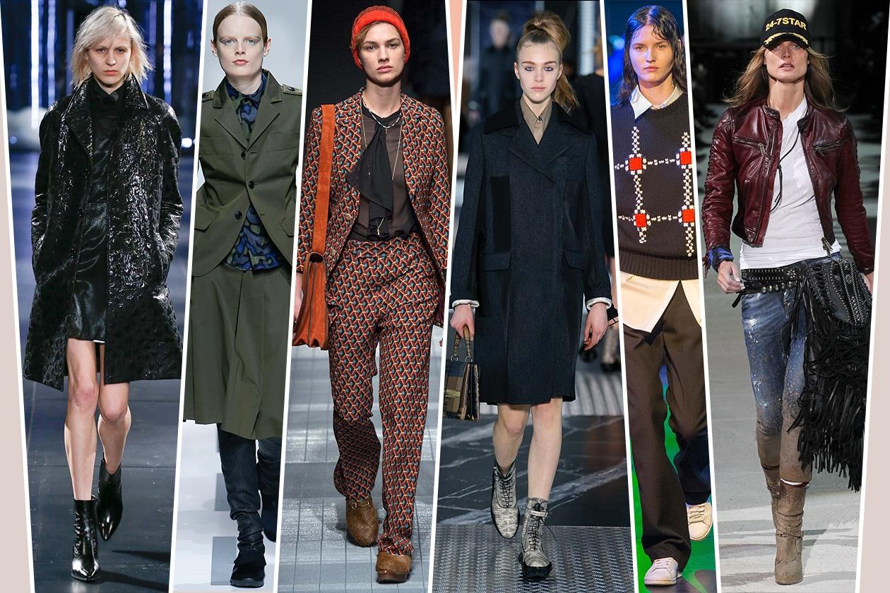 Modelle androgine alle sfilate per l'A/I 2015