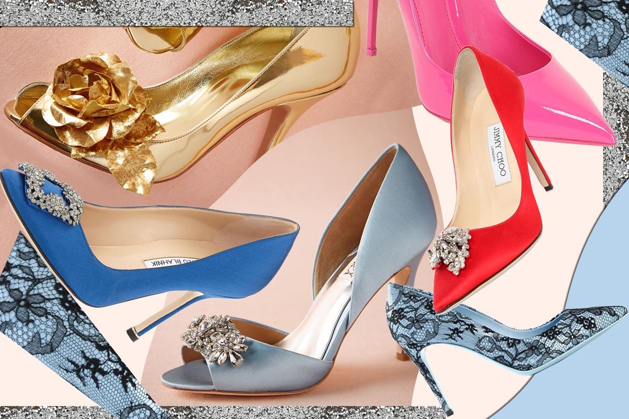 Scarpe da sposa: 15 modelli colorati