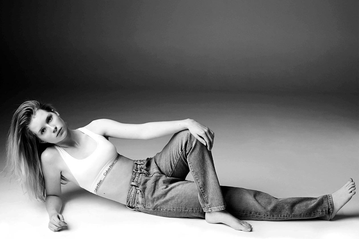 lottie moss per Calvin Klein