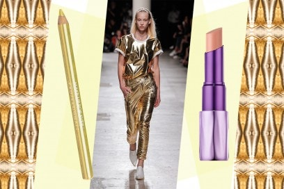 Abiti oro e make up: Barbara Bui