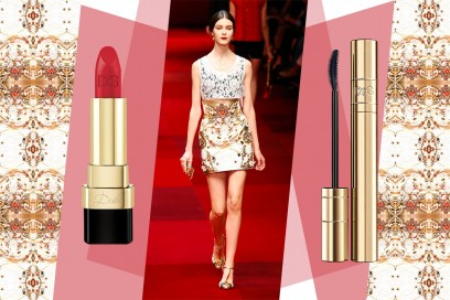 Abiti oro e make up: Dolce & Gabbana