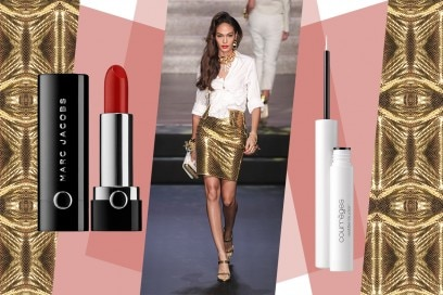 Abiti oro e make up: Jean Paul Gaultier