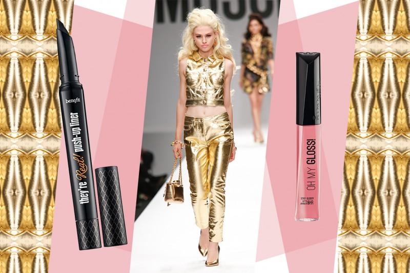 Abiti oro e make up: Moschino
