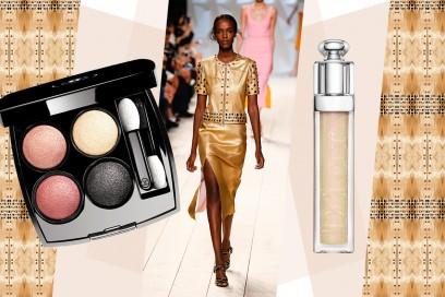 Abiti oro e make up: Nina Ricci