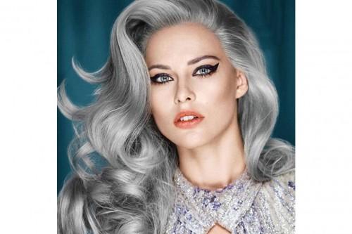 Foto capelli color argento