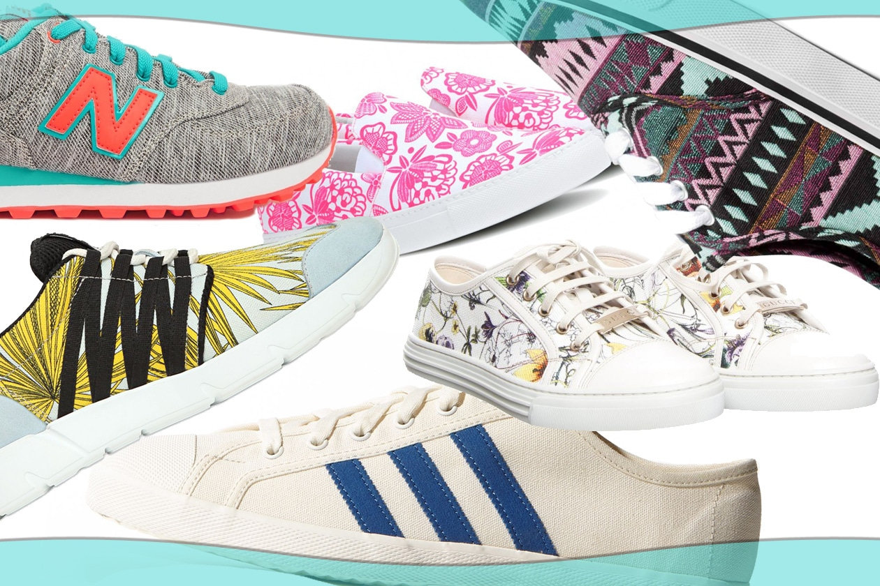 Canvas sneakers for spring!