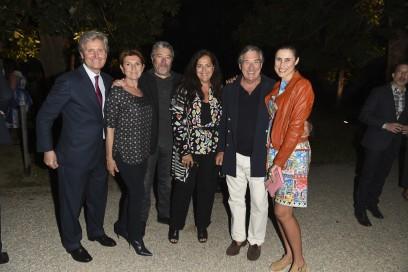 Claudio Luti, Maria Luti, Philippe Starck, Angela Missoni, Bruno Ragazzi and Jasmine Starck