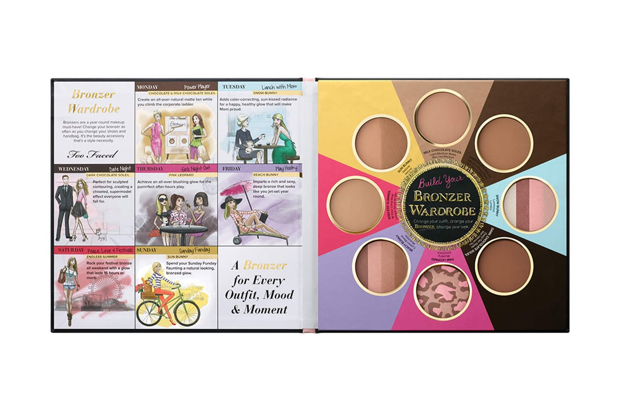 Contouring viso: Too Faced Little Black Book of Bronzers