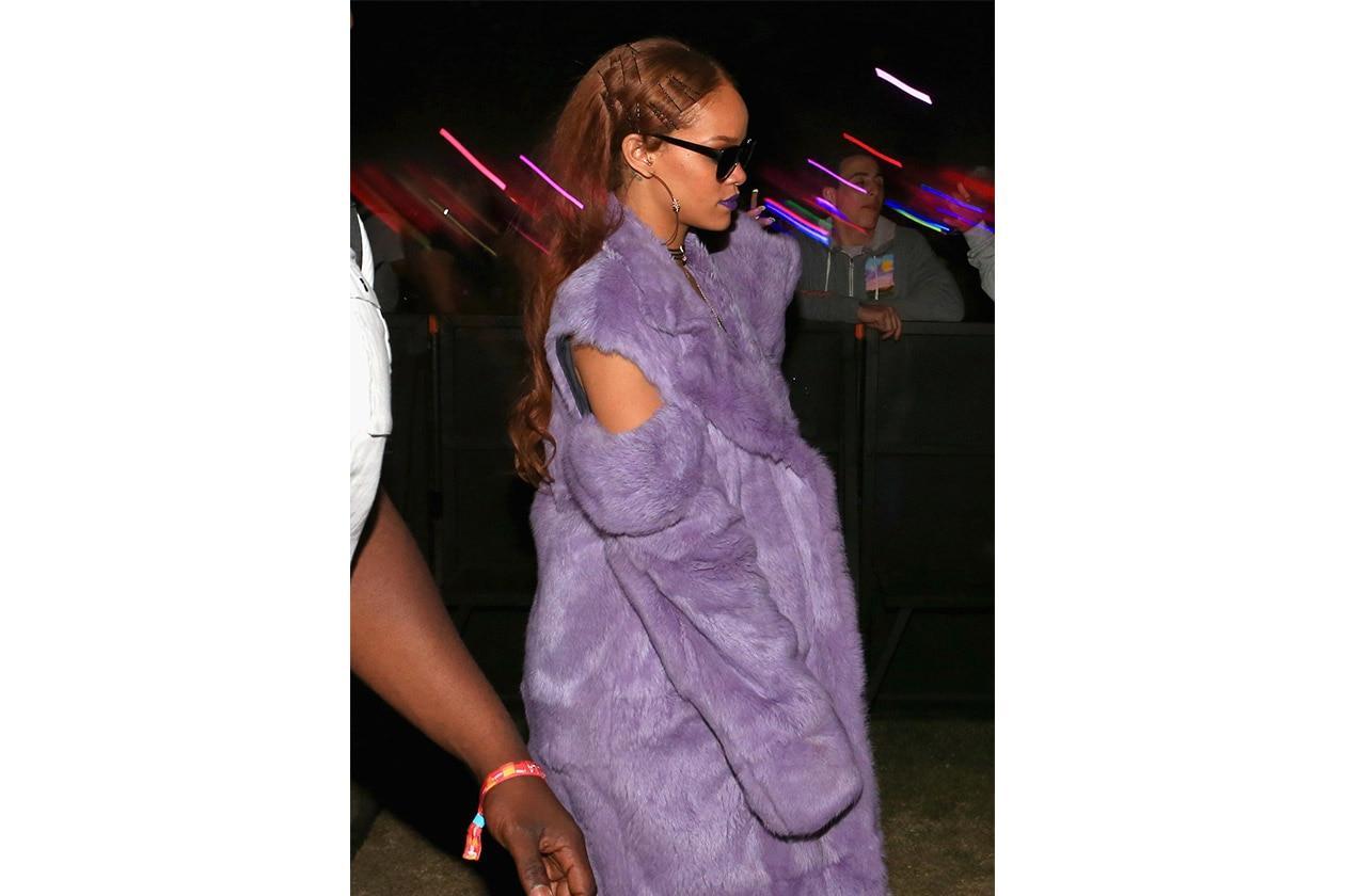 Look capelli Coachella 2015: Rihanna