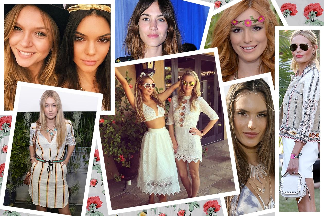 Look capelli Coachella 2015: le star al festival