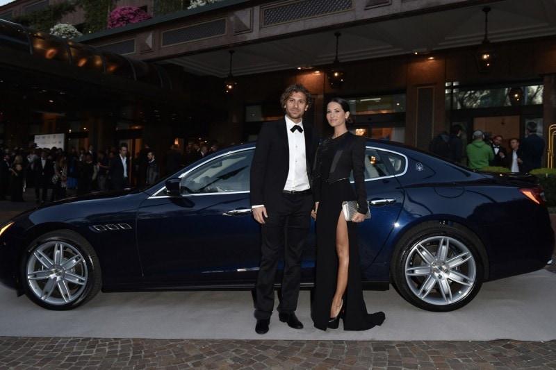 Maserati al Gran Galà Milano Charity Alessio Cerci, Federica Riccardi