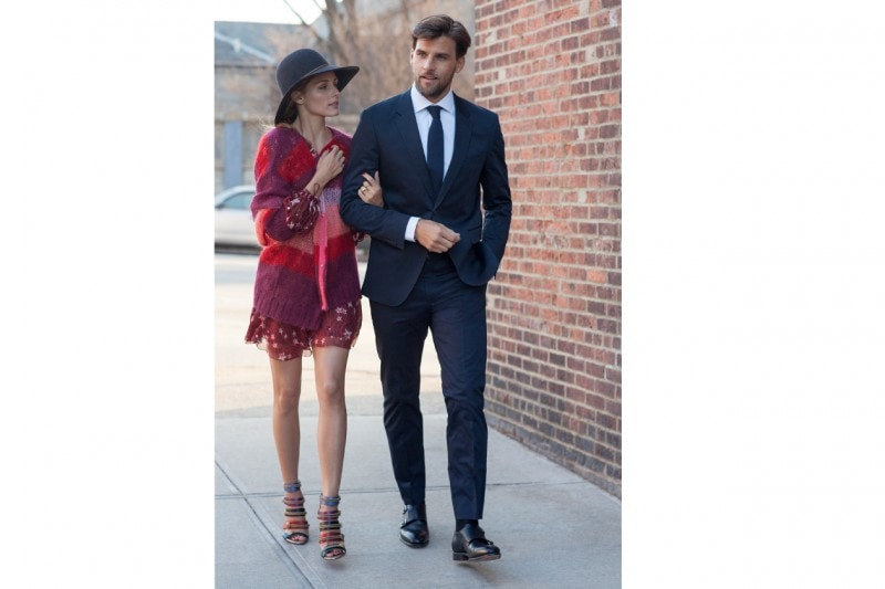 Olivia Palermo and Johannes Huebl in Tommy Hilfiger