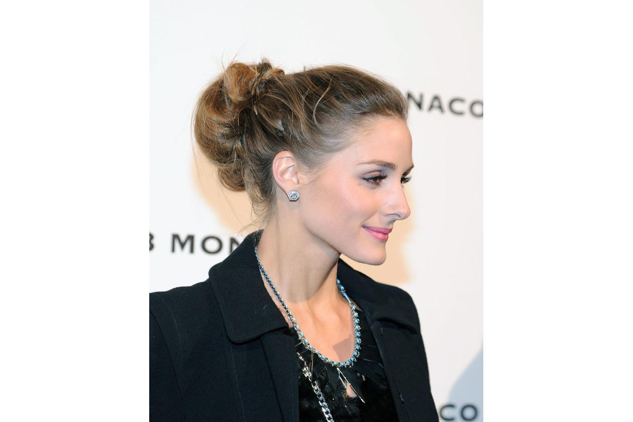 Olivia Palermo capelli: messy bun