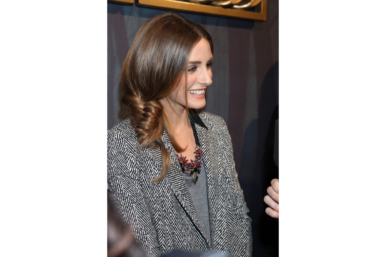 Olivia Palermo capelli: treccia a spiga