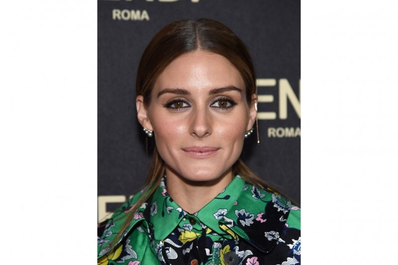 Olivia Palermo trucco: brown and purple
