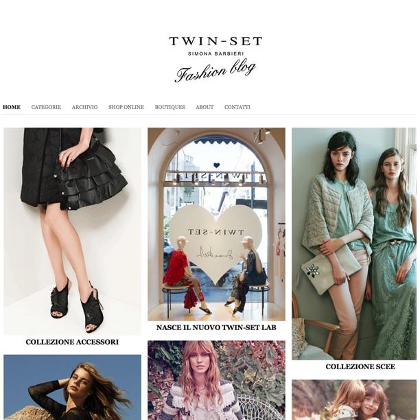 Online il blog di Twin-Set, per entrare nel mondo di Simona Barbieri
