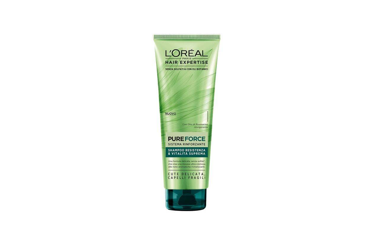 Prodotti per rinforzare i capelli: Hair Expertise Pure Force Shampoo di L'Oreal Paris