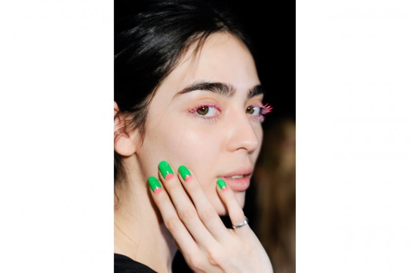 Reverse french manicure: Fyodor Golan