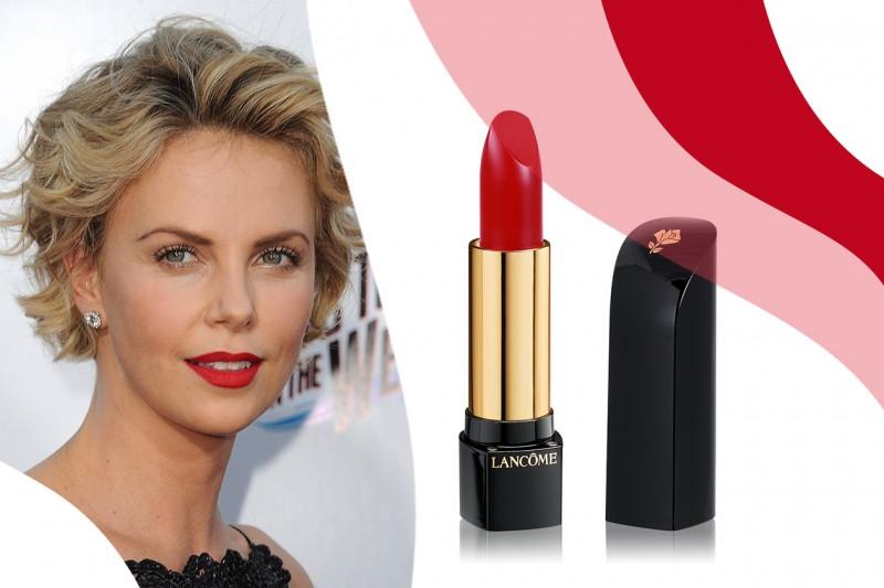 Rossetti rossi da red carpet: L'Absolu Rouge in 134 Idole di Lancôme – Charlize Theron