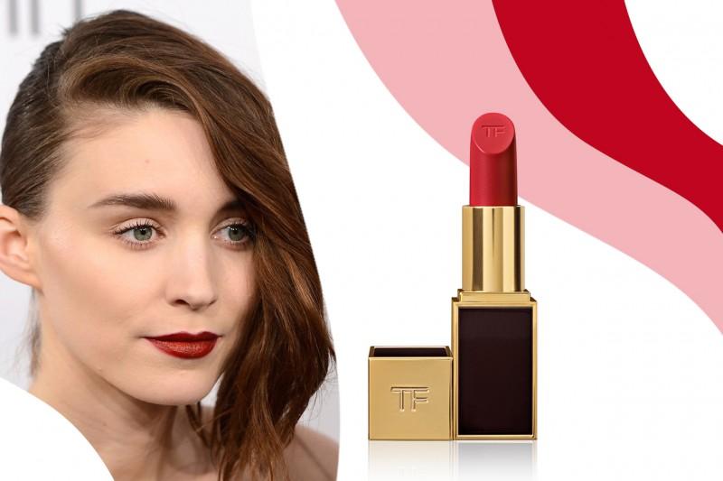 Rossetti rossi da red carpet: Lip Color in Cherry Lush di Tom Ford – Rooney Mara