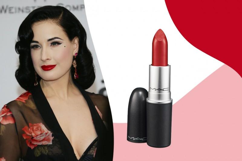 Rossetti rossi da red carpet: MAC Lipstick in Ruby Woo – Dita Von Teese