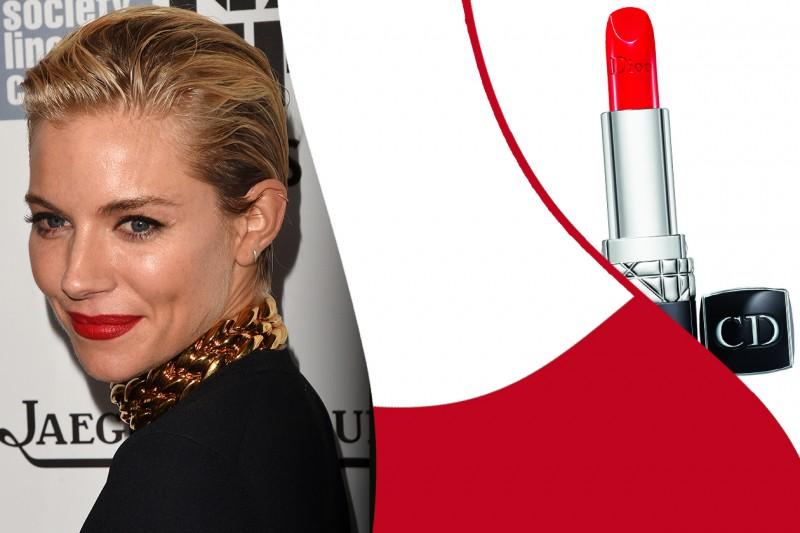 Rossetti rossi da red carpet: Rouge Dior in 844 Trafalgar – Sienna Miller