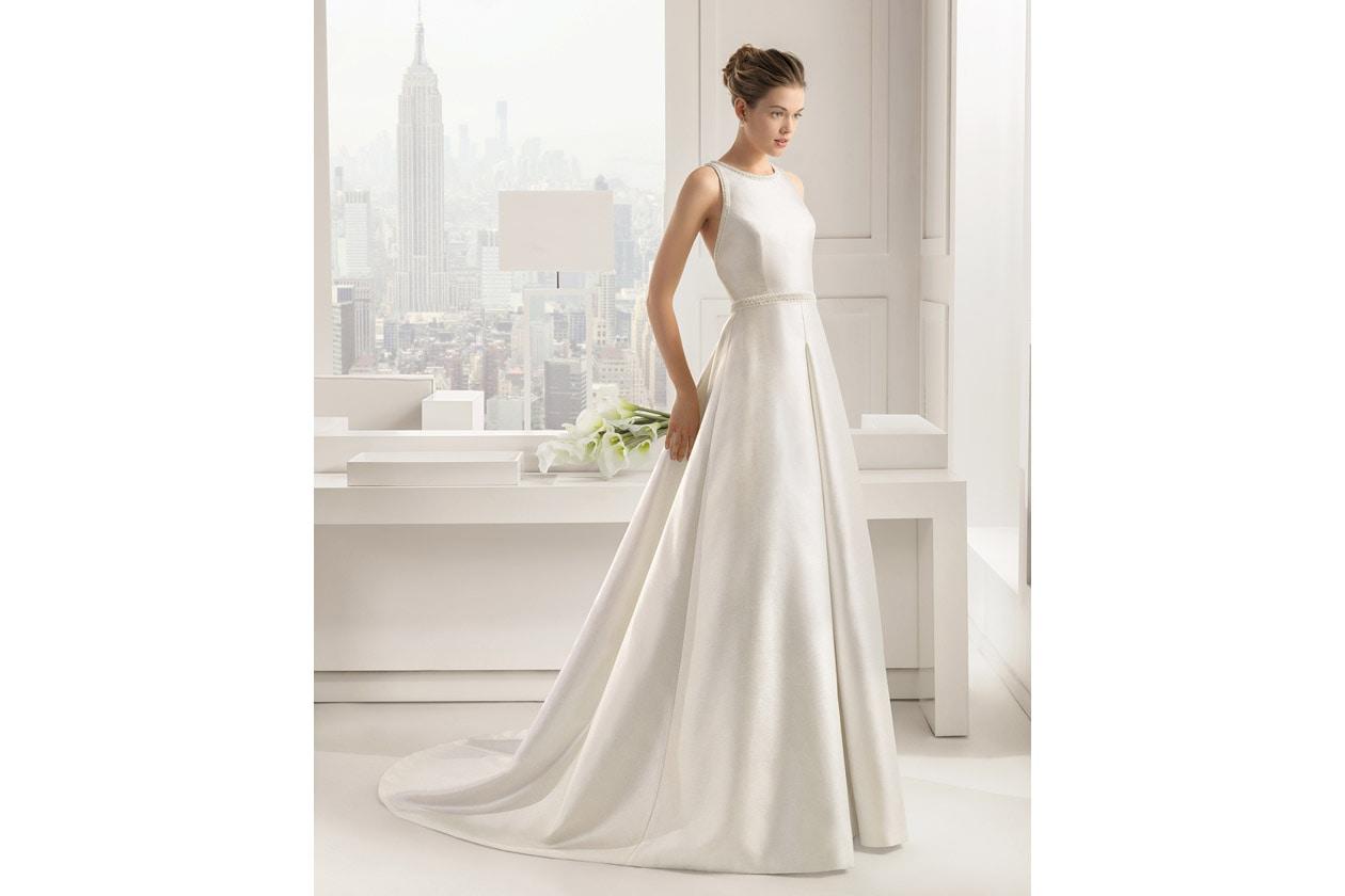 SATINA de novia rosa clara 81133