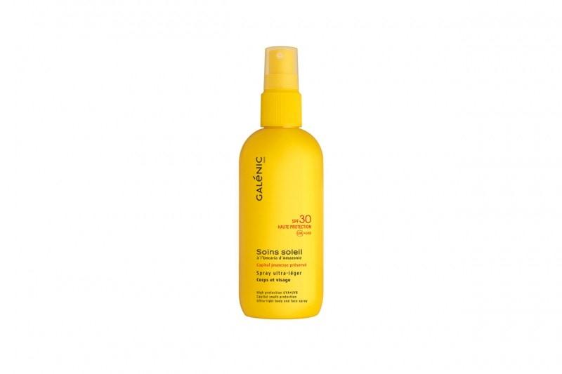 SOLARI 2015: Spray ultra leggero corpo e viso SPF 30 di Galenic
