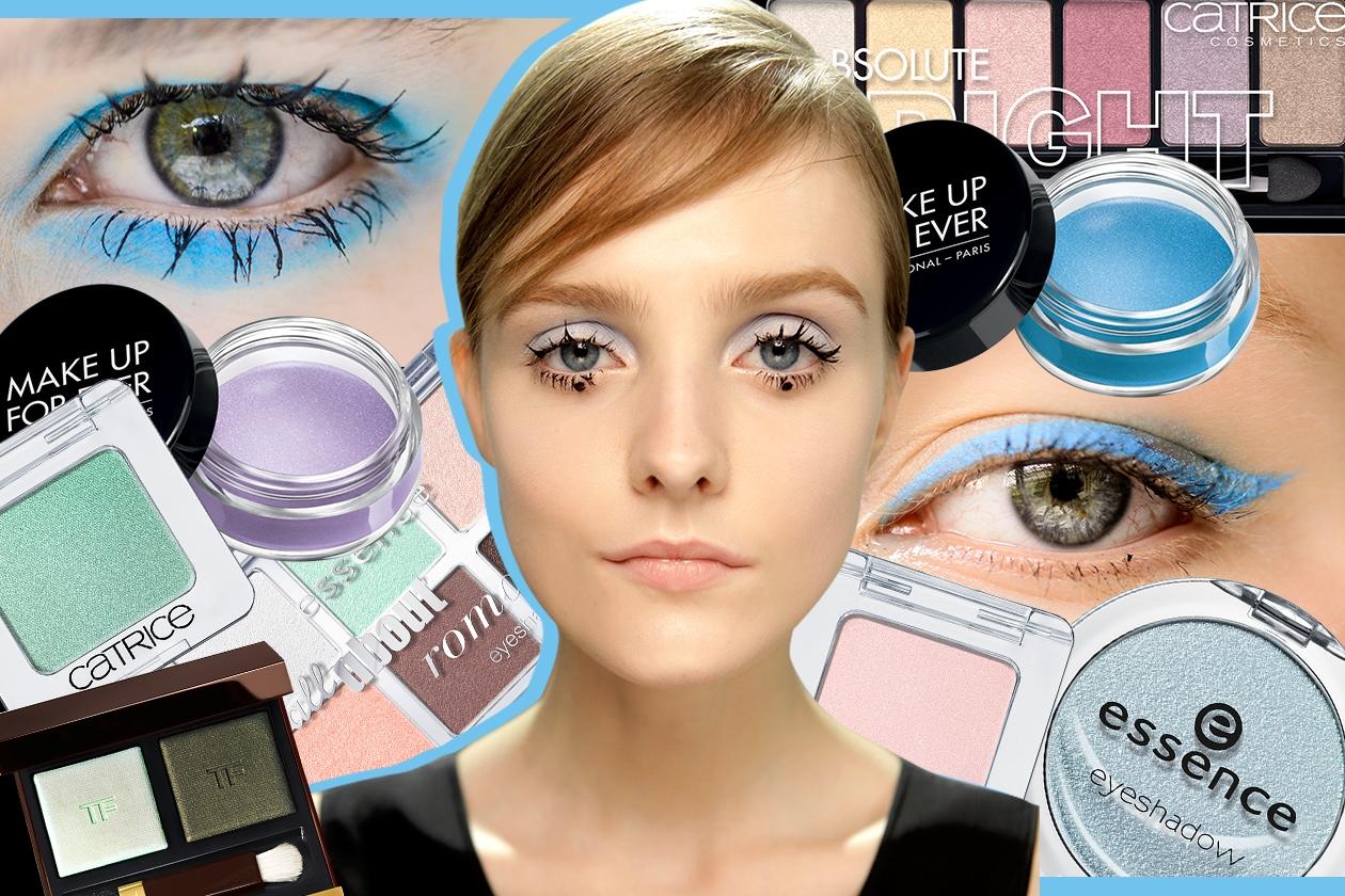 Trucco occhi pastello: gli smokey eyes della pe 2015