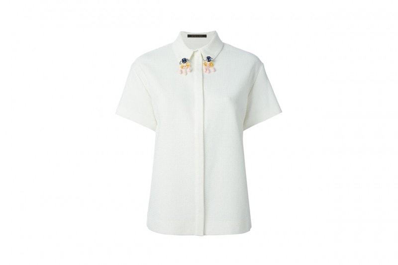 Camicia con colletto decorato: Mother of Pearl