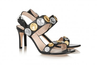 Sandali con placchette metalliche décor: Marc Jacobs