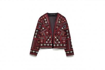 Giacca con ricamo etnico: Zara