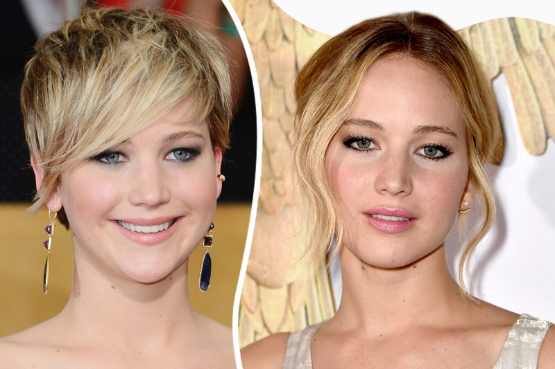Star con frangia: Jennifer Lawrence