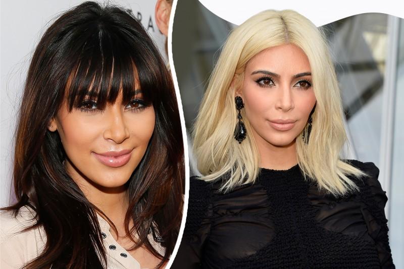 Star con frangia: Kim Kardashian