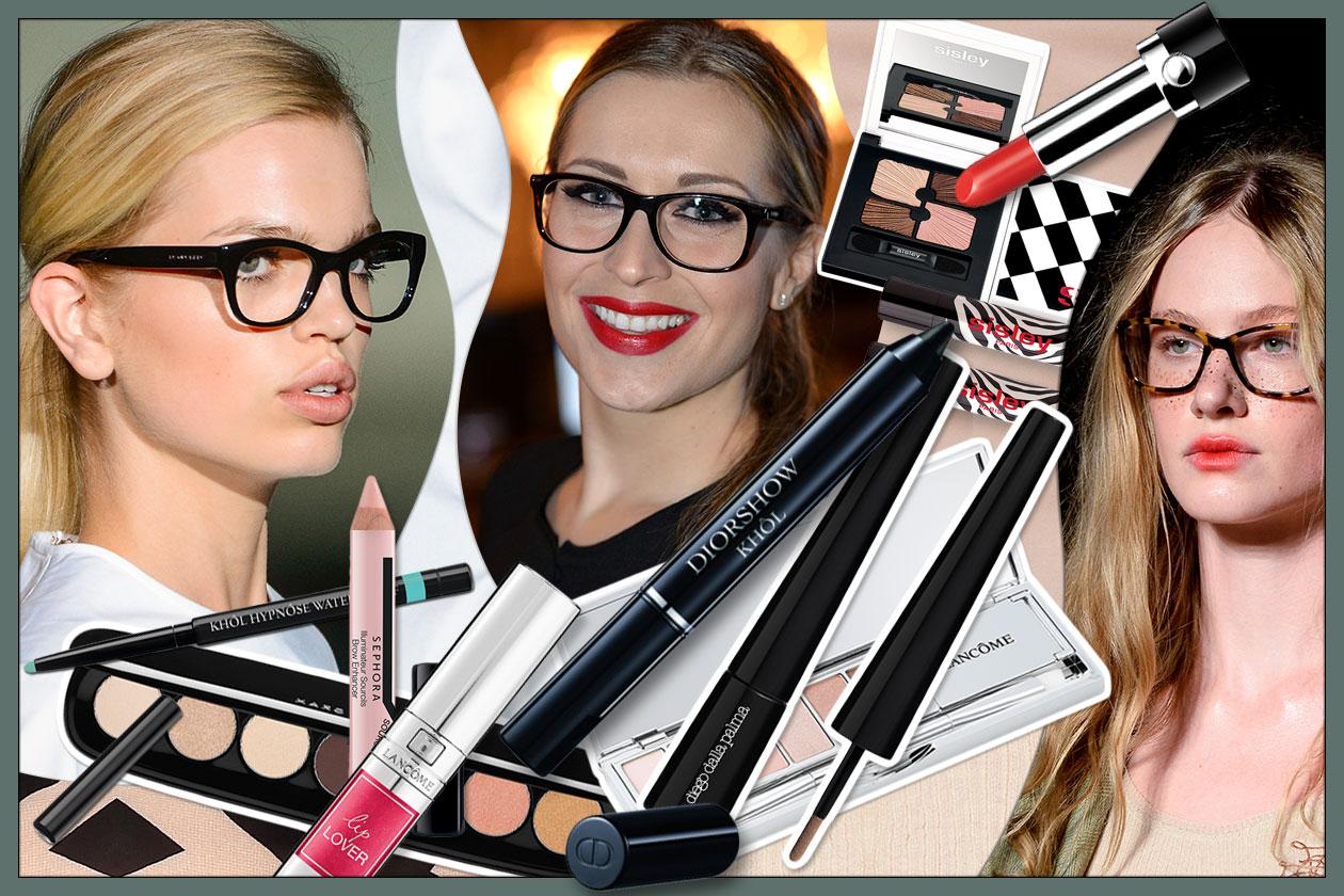 Trucco occhiali: il make up giusto sotto le lenti