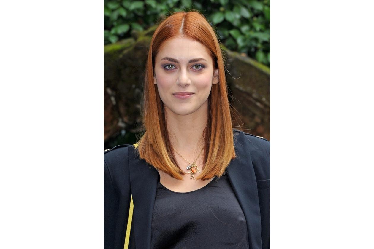 Miriam Leone capelli: bob lungo liscio con riga centrale