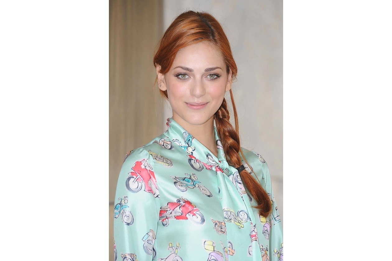 Miriam Leone capelli: treccia semplice laterale