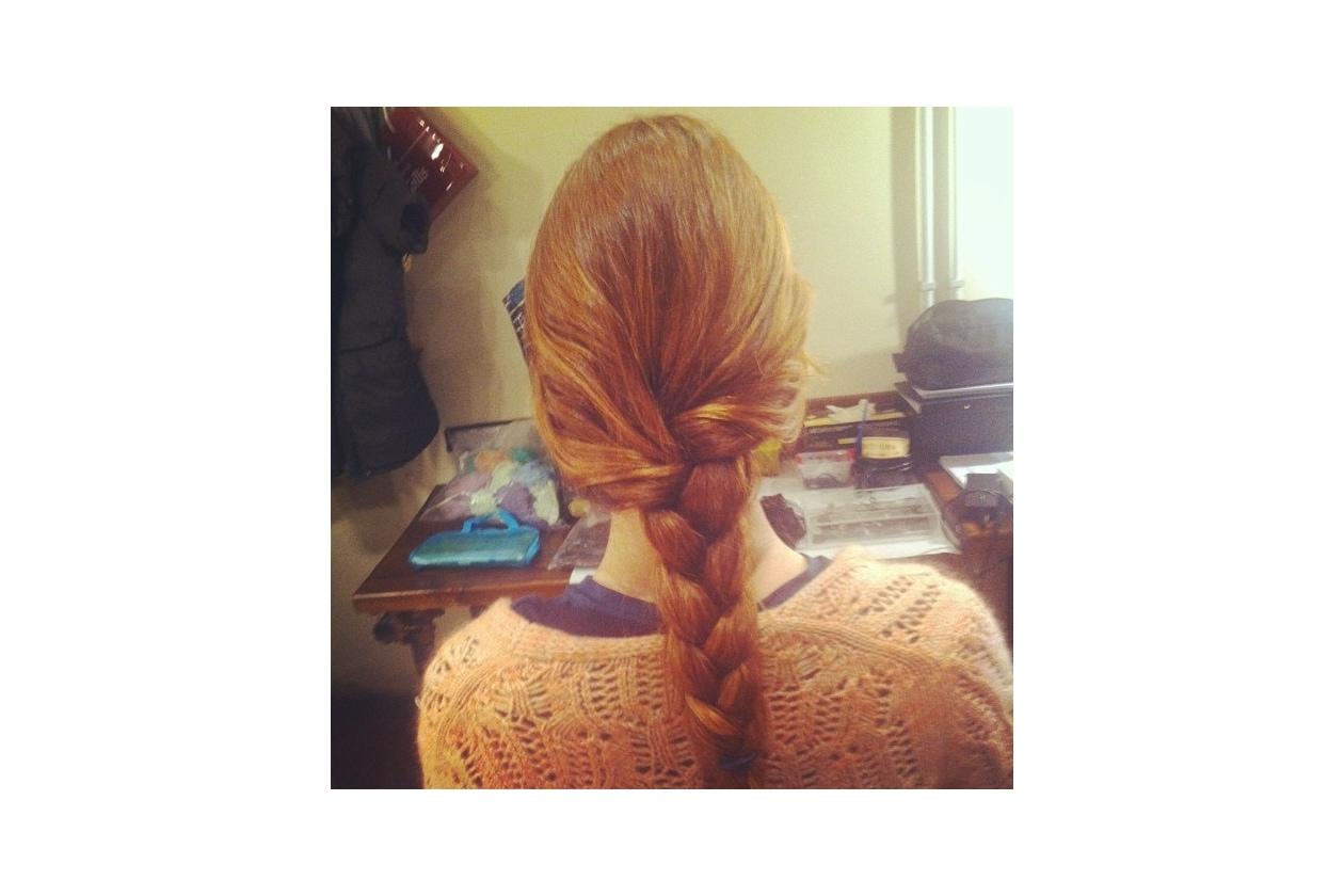 Miriam Leone capelli: treccia semplice