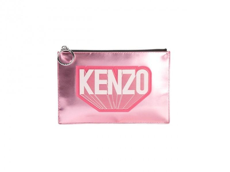 Clutch in pelle laminata: Kenzo