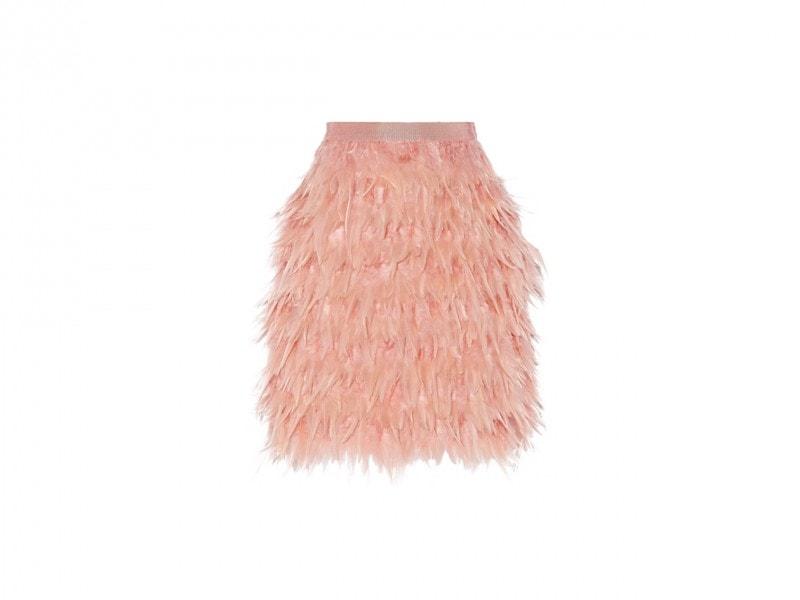 Gonna con piume: DKNY