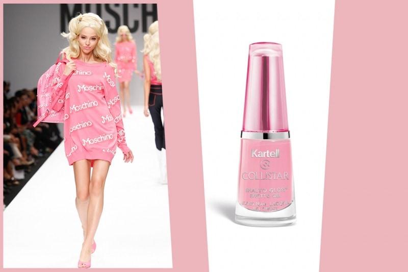 COME RICREARE IL LOOK DI BARBIE: unghie effetto gel rosa confetto