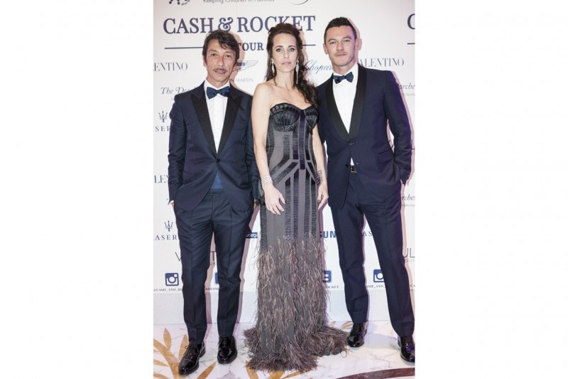 Cash&Rocket Gala and Charity Auction, Pierpaolo Piccioli, Julie Brangstrup and Luke Evans