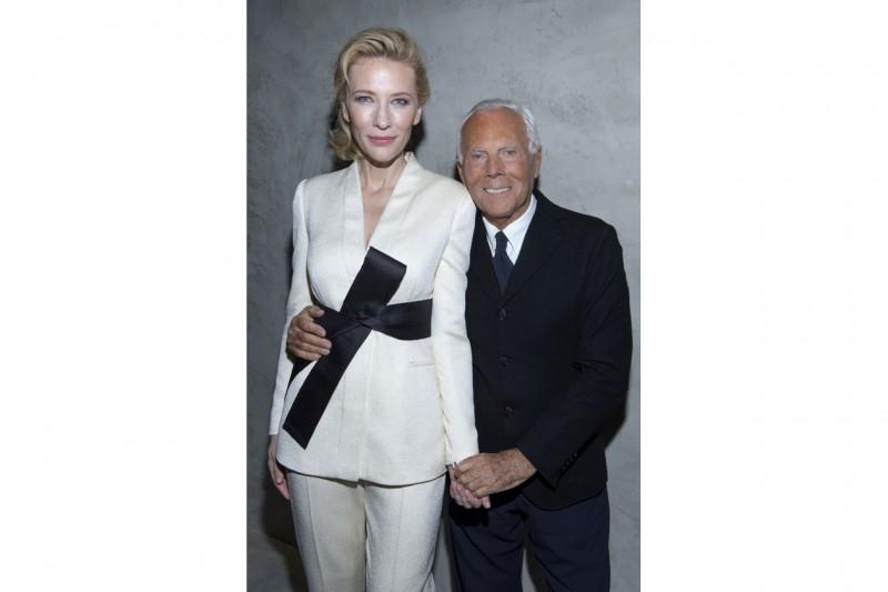Cate Blanchett e Giorgio Armani