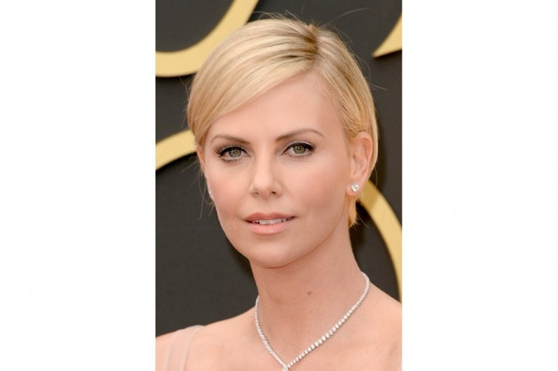 Charlize Theron trucco: nude lips