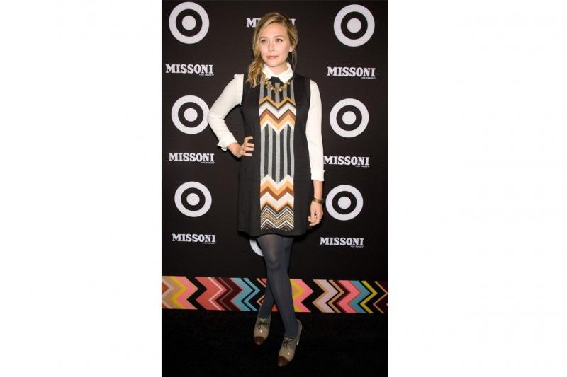 Elizabeth Olsen: Retrò in abito e francesine