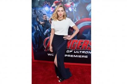 Elizabeth Olsen: Sporty-chic in Galvan