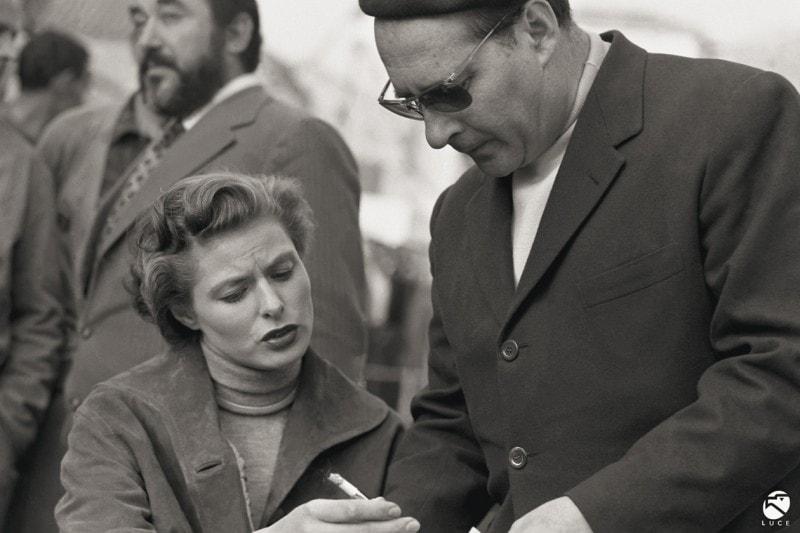 Ingrid Bergman Roberto Rossellini Viaggio in Italia 1954 Istituto Luce