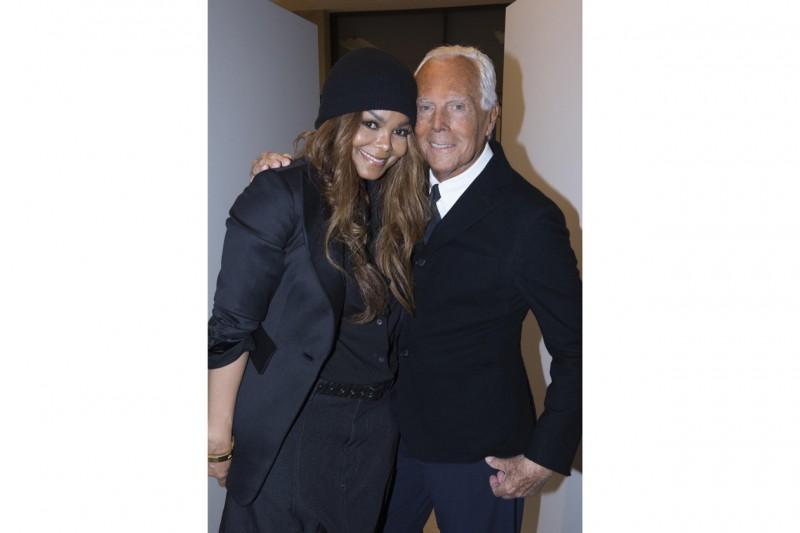 Janet Jackson e Giorgio Armani